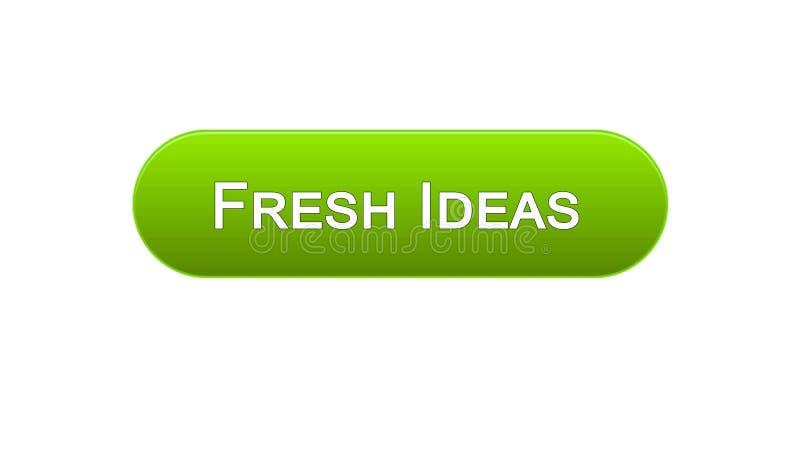 新主意网接口按钮绿色,企业激发灵感,创造性 向量例证