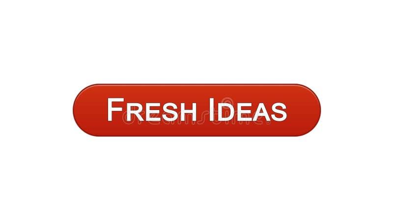 新主意网接口按钮葡萄酒红,企业激发灵感,创造性 库存例证
