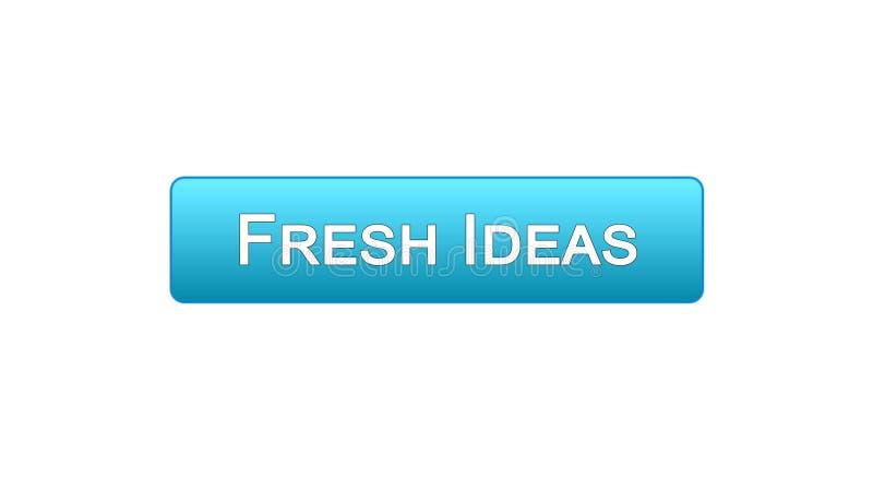 新主意网接口按钮蓝色颜色,企业激发灵感,创造性 库存例证