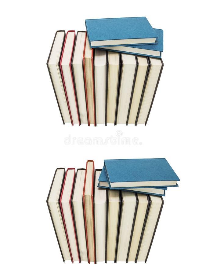 新书堆五颜六色的读书拼贴画 免版税库存图片