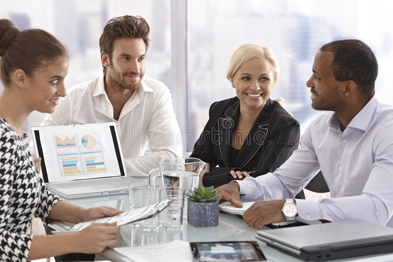 新买卖人在会议上 免版税库存照片