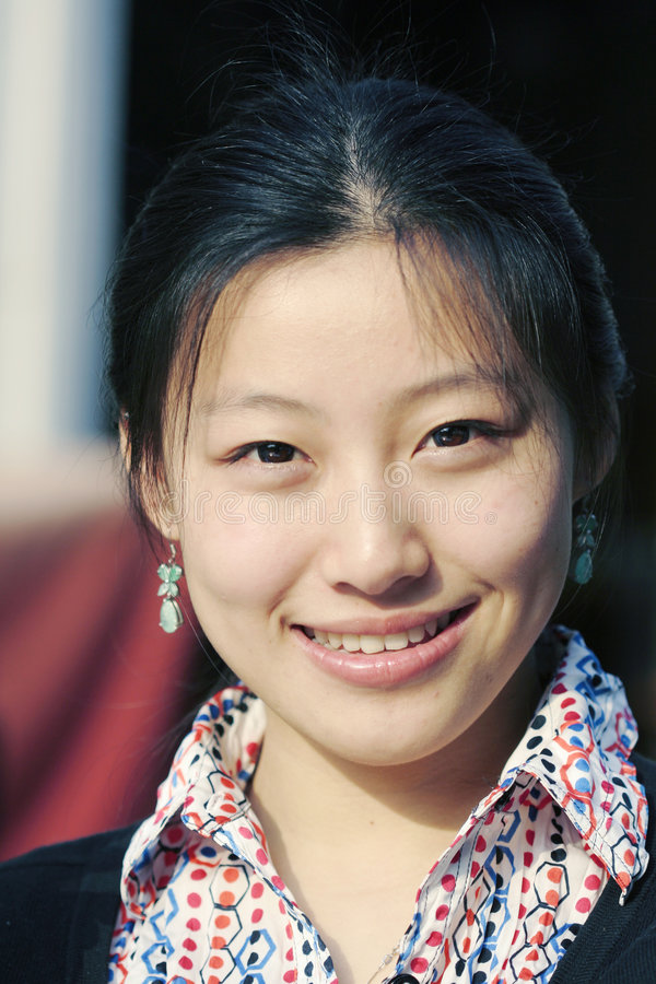 新亚裔的女实业家 免版税库存图片