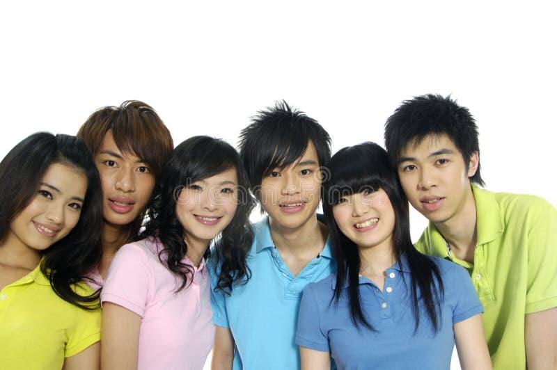 新亚裔的学员 库存照片