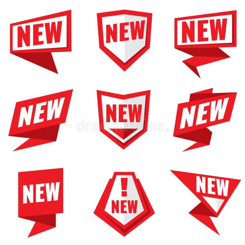 新产品状态传染媒介标签 皇族释放例证