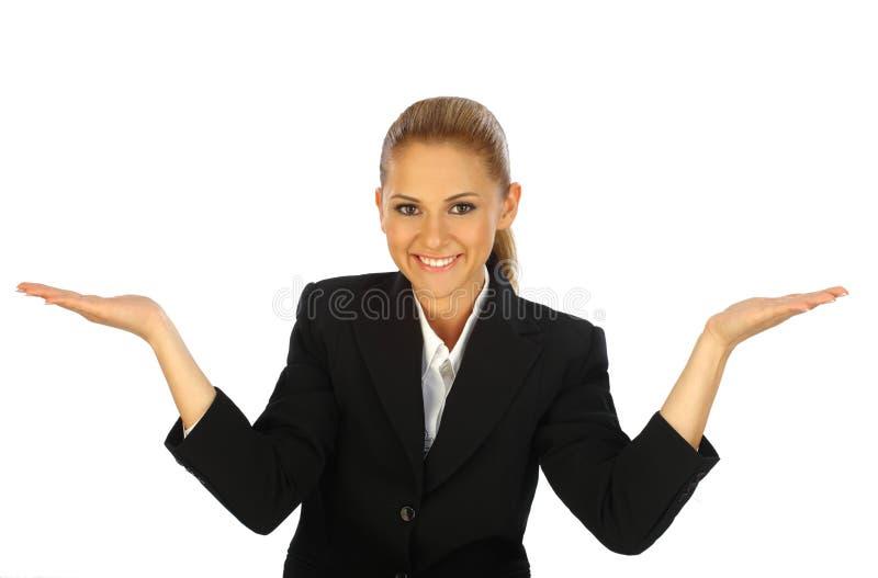 新企业女孩摆在 免版税库存图片