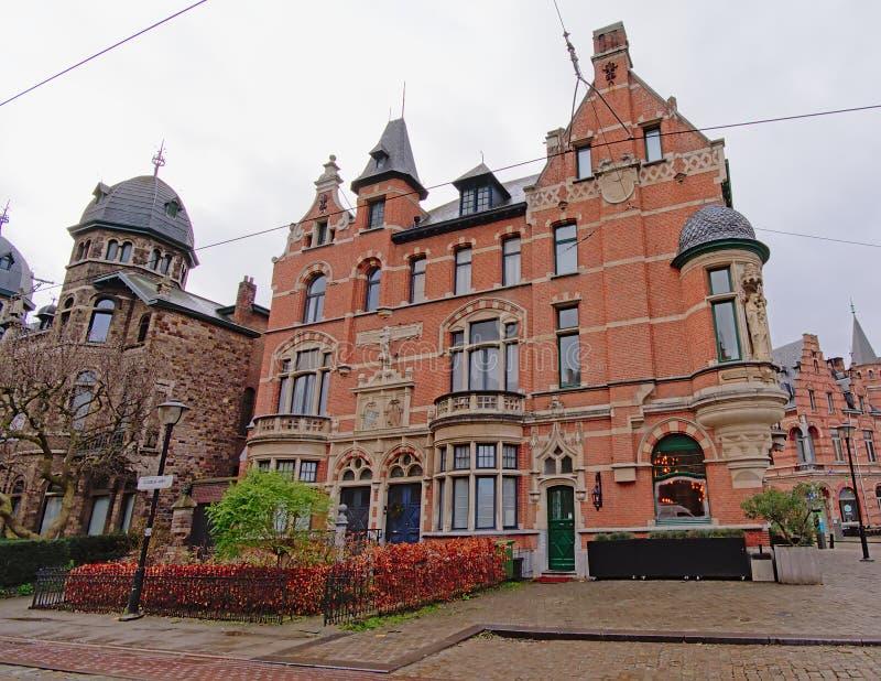 新佛兰芒新生房子在Zurenborg区,安特卫普 免版税库存照片