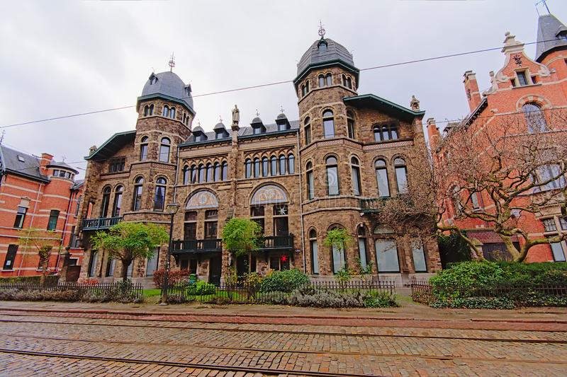新佛兰芒新生房子在Zurenborg区,安特卫普 免版税库存图片