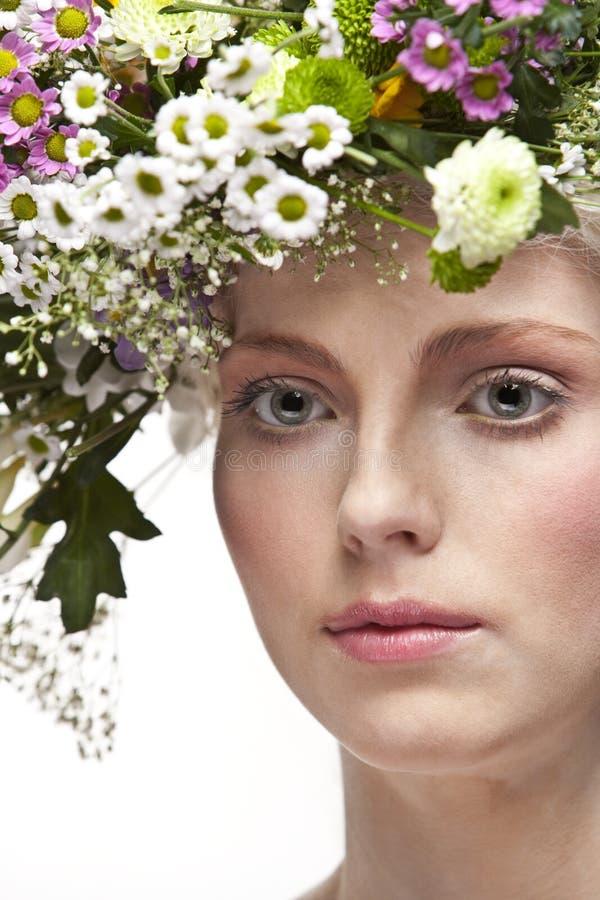 新俏丽的妇女艺术纵向。 免版税图库摄影