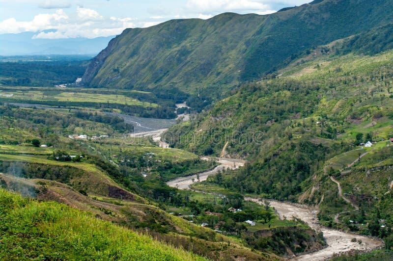 新几内亚的谷河Baliem 库存照片