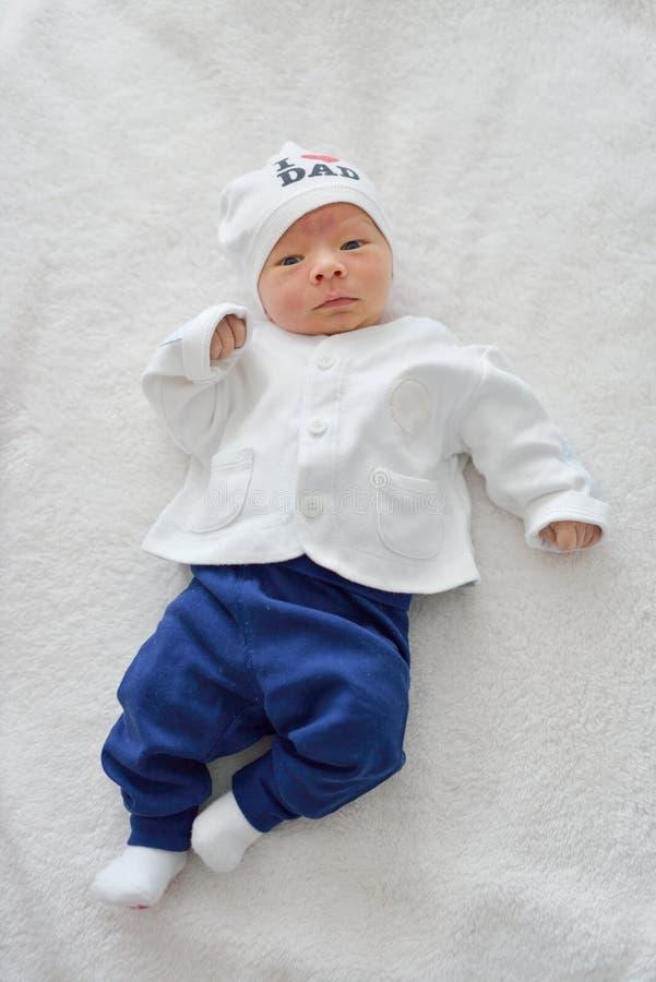 新出生与生理黄疸 库存照片