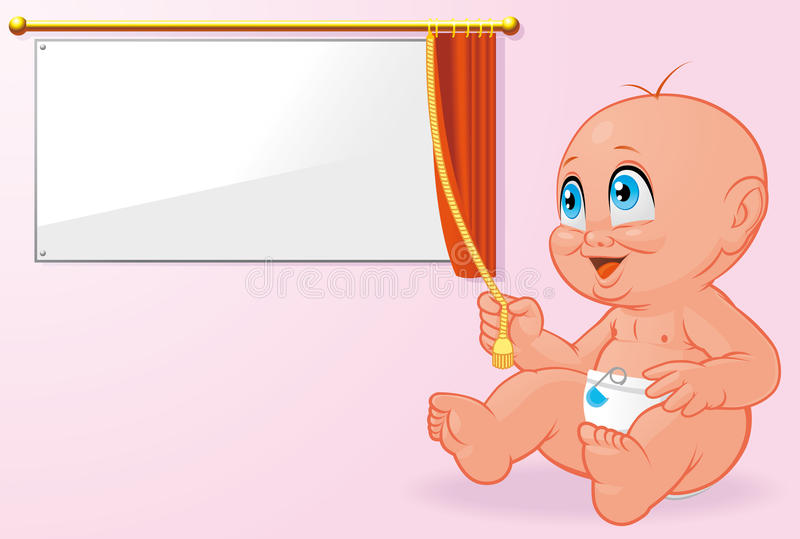 新出生婴孩的就职典礼 皇族释放例证