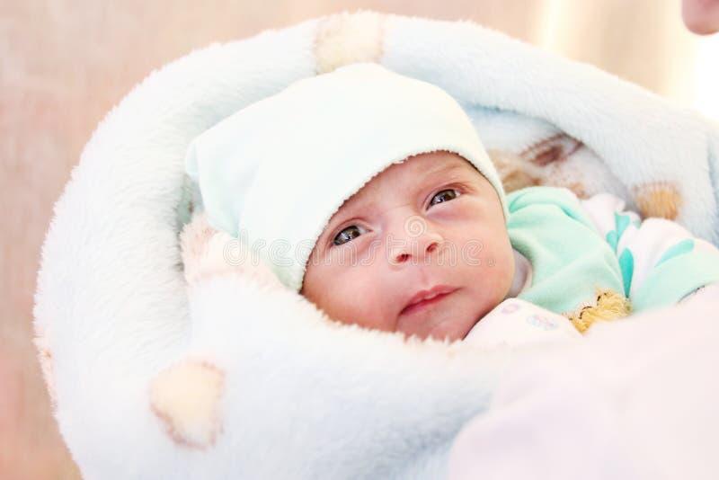 新出生的女孩 图库摄影