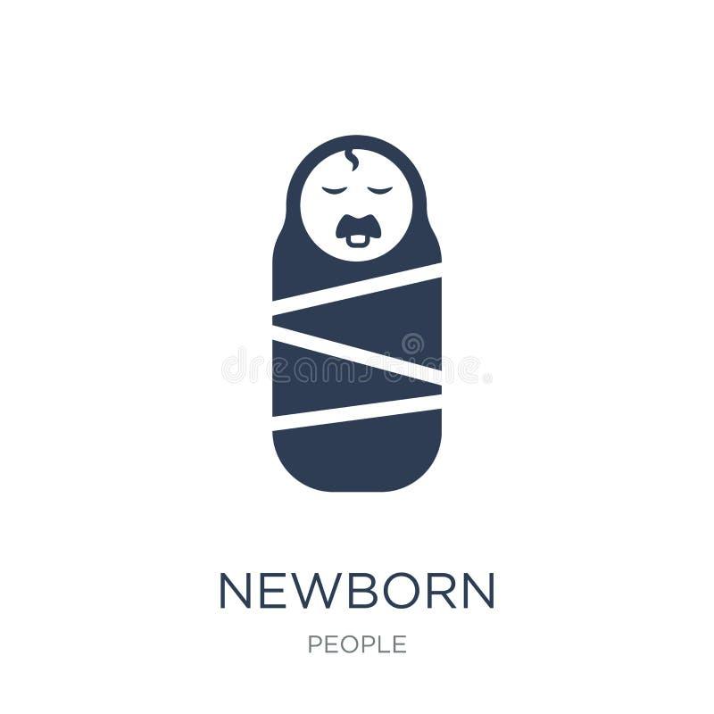 新出生的象  向量例证