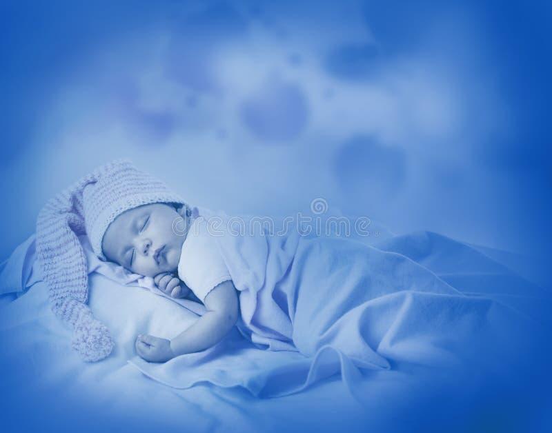 新出生的婴孩一月年龄 免版税库存图片