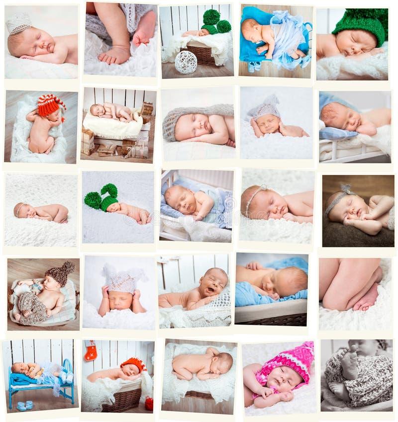 新出生的婴孩照片 库存照片