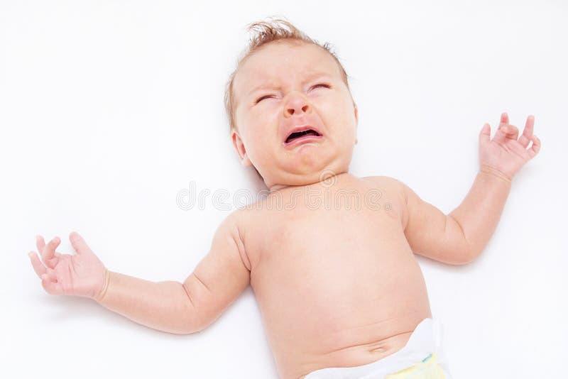 新出生的婴孩 图库摄影