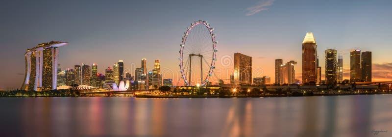 新加坡一枪 免版税图库摄影