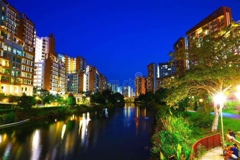 新加坡住房开发Punggol的简单地Edgedale委员会议院 库存照片
