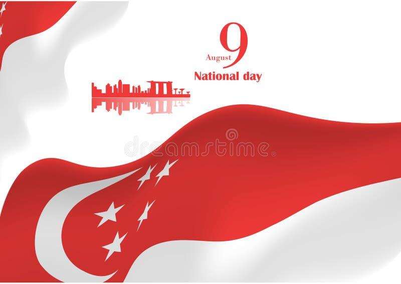 新加坡国庆节背景 库存例证