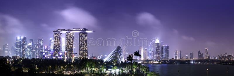 新加坡地平线和都市风景 免版税库存照片