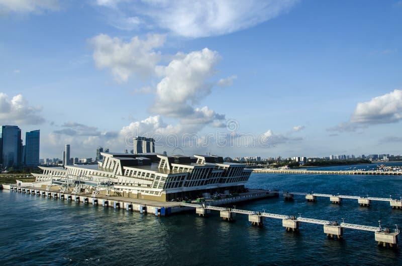 新加坡巡航口岸终端 免版税库存照片