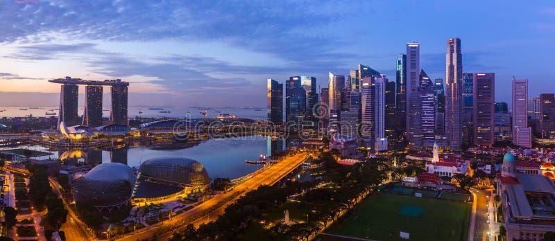 新加坡市地平线 库存照片