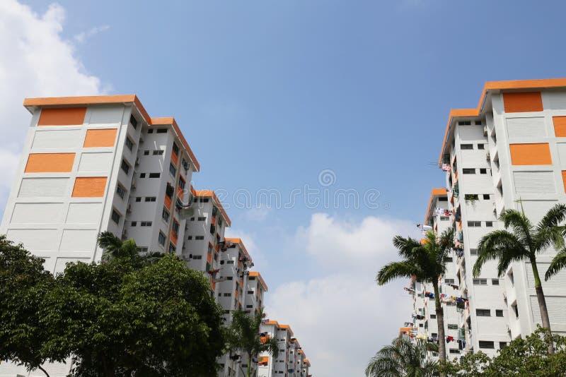 新加坡平的建屋发展局 免版税库存图片
