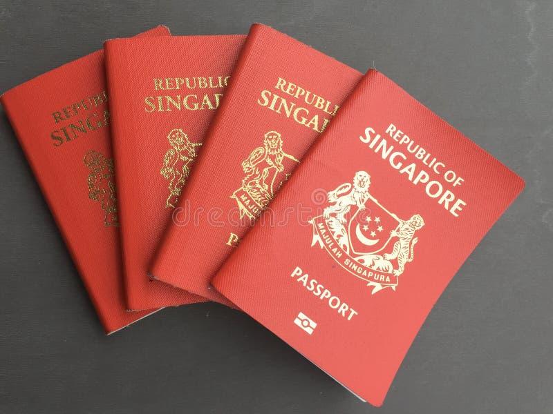 新加坡护照 库存照片