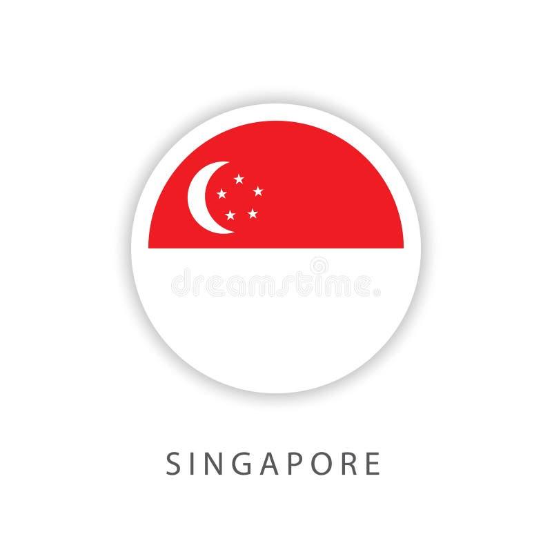 新加坡按钮旗子传染媒介模板设计以图例解释者 向量例证
