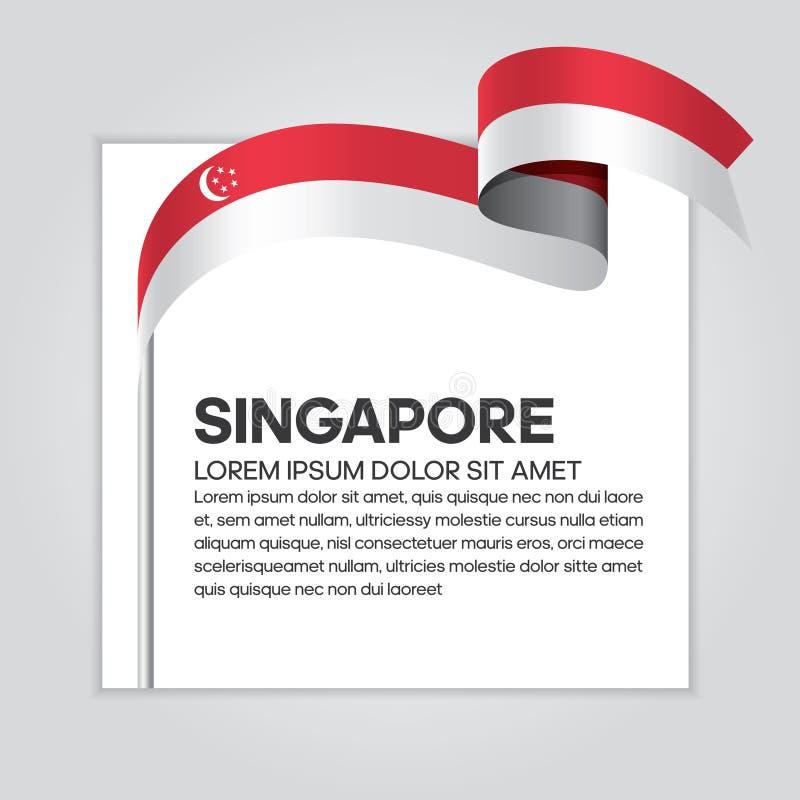 新加坡旗子背景 皇族释放例证