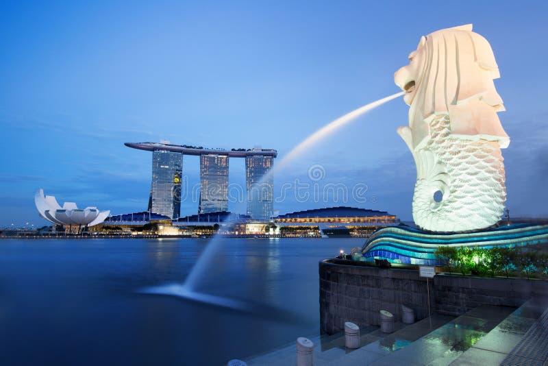 新加坡海湾 库存照片