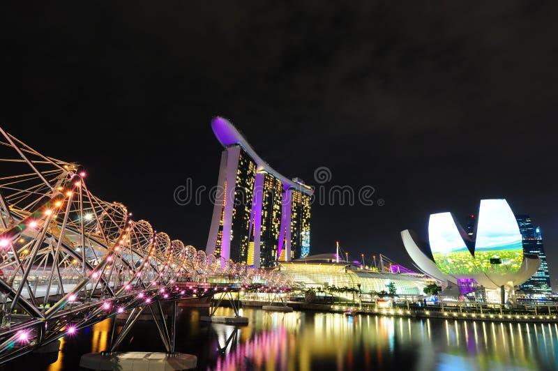 新加坡海滨广场海湾铺沙01 免版税库存图片
