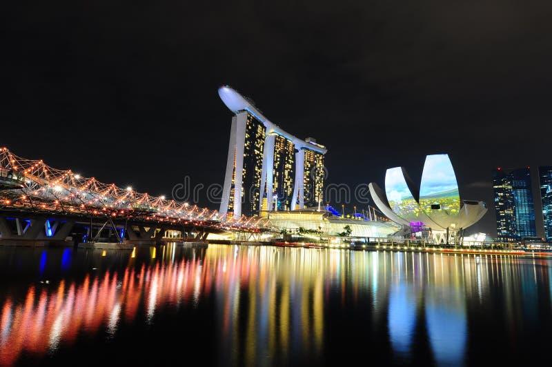 新加坡海滨广场海湾铺沙02 免版税库存图片