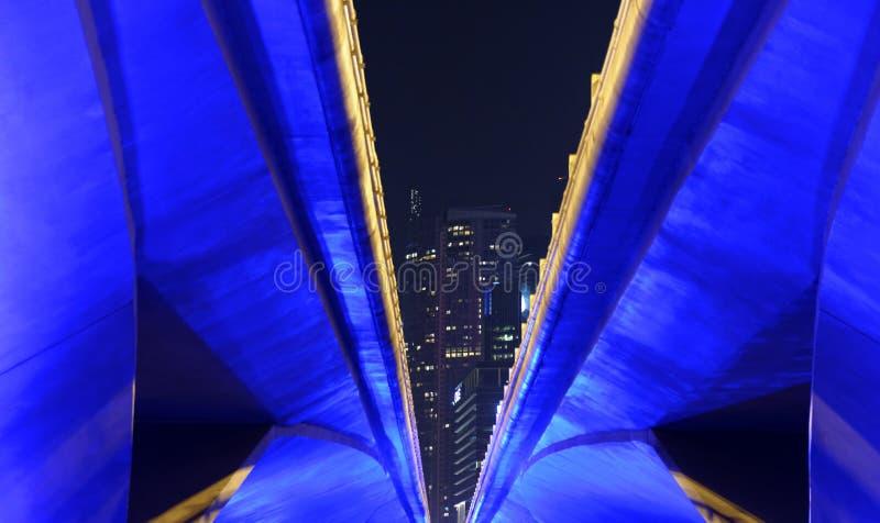 从新加坡的桥梁细节 免版税库存图片
