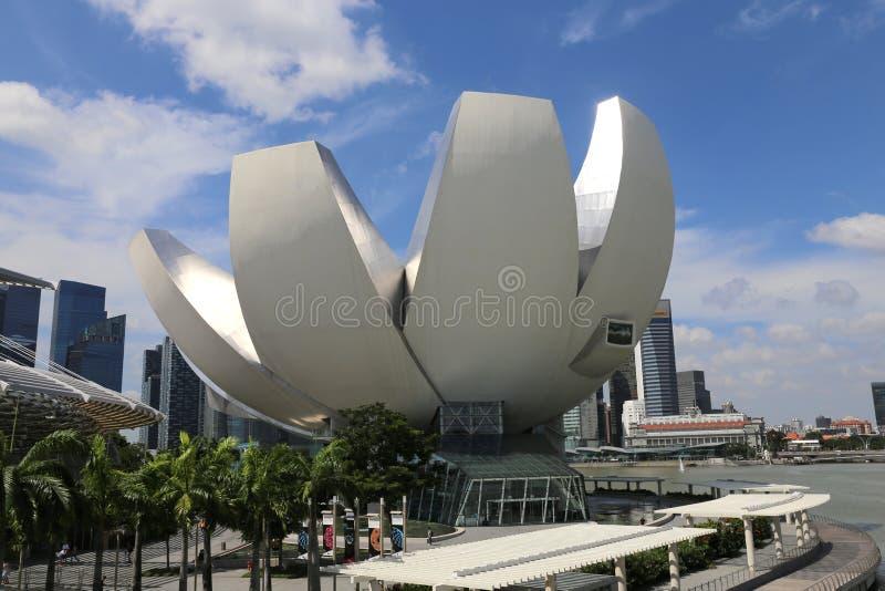 新加坡艺术科技馆 库存照片