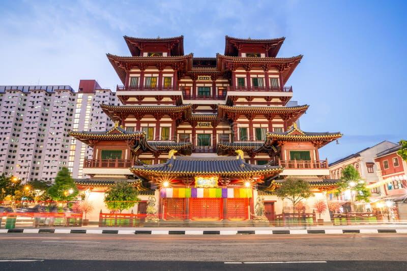 新加坡菩萨牙遗物寺庙 免版税库存照片