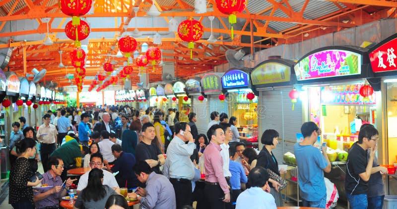 新加坡食品店 免版税库存图片