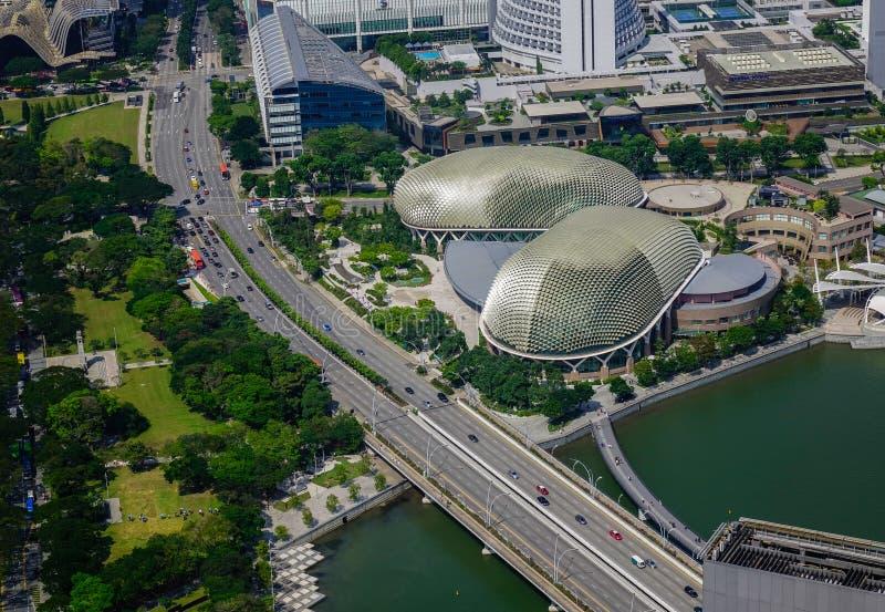 新加坡鸟瞰图 免版税库存图片