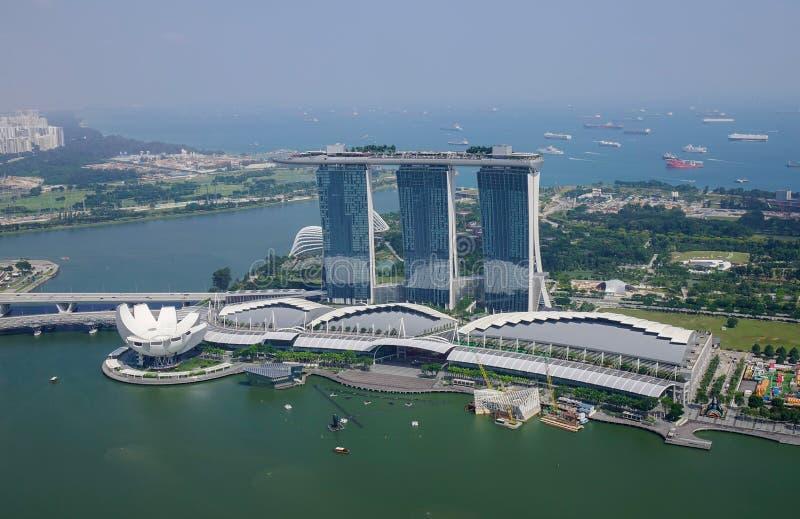 新加坡鸟瞰图 库存图片