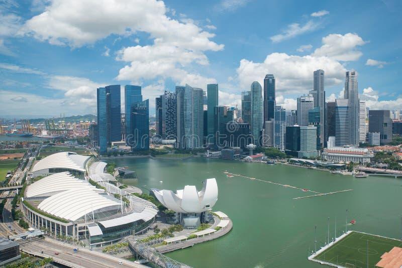 新加坡鸟瞰图 库存照片