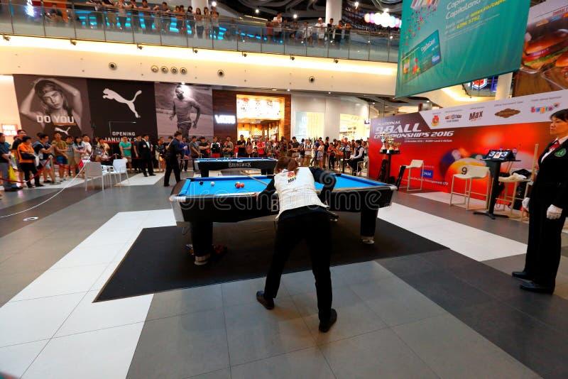新加坡:台球竞争 库存照片