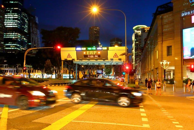 新加坡:电子公路定价 免版税图库摄影