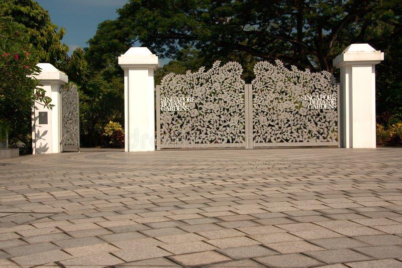 新加坡- 2008年3月 对植物园的门户 库存图片