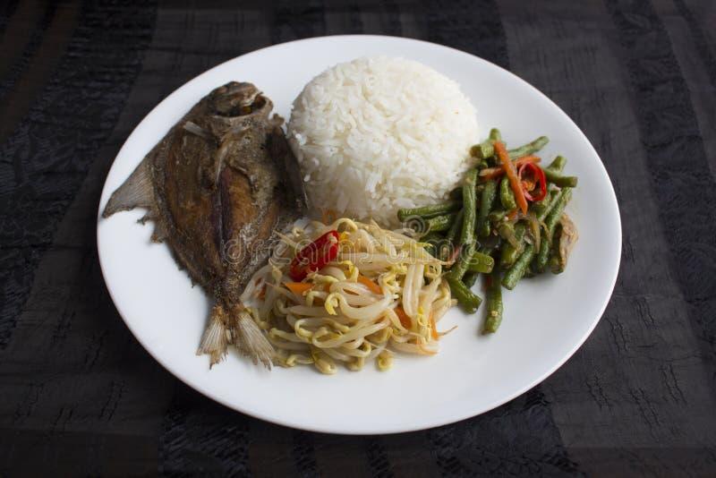 新加坡/马来西亚混杂的菜米 库存图片