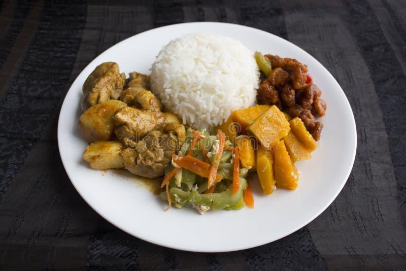 新加坡/马来西亚混杂的菜米 免版税图库摄影