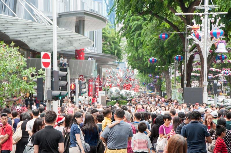 新加坡- DEC 25 免版税库存图片