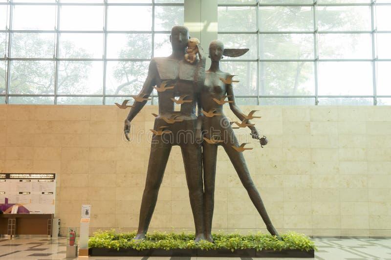 新加坡Changi国际机场 库存图片