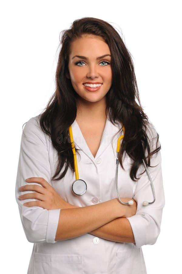新医生或护士纵向  免版税库存图片