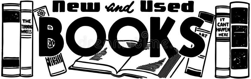 新和使用的书 皇族释放例证