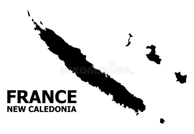 新喀里多尼亚的传染媒介平的地图有名字的 皇族释放例证